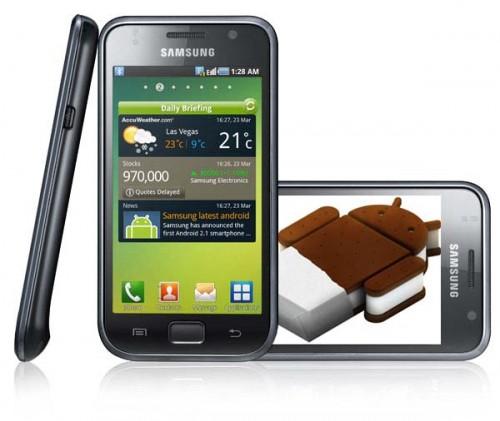 Dos modelos de Samsung se actualizan a Android 4.0